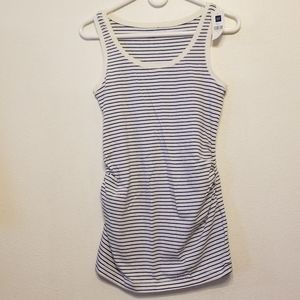 Gap Maternity pure body blue & white stripe tank